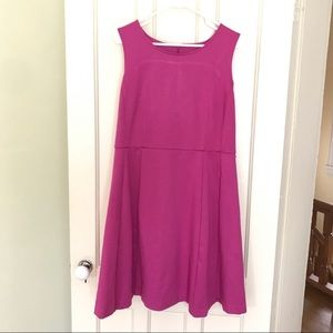 212 Collection Fit & Flare Pink Dress